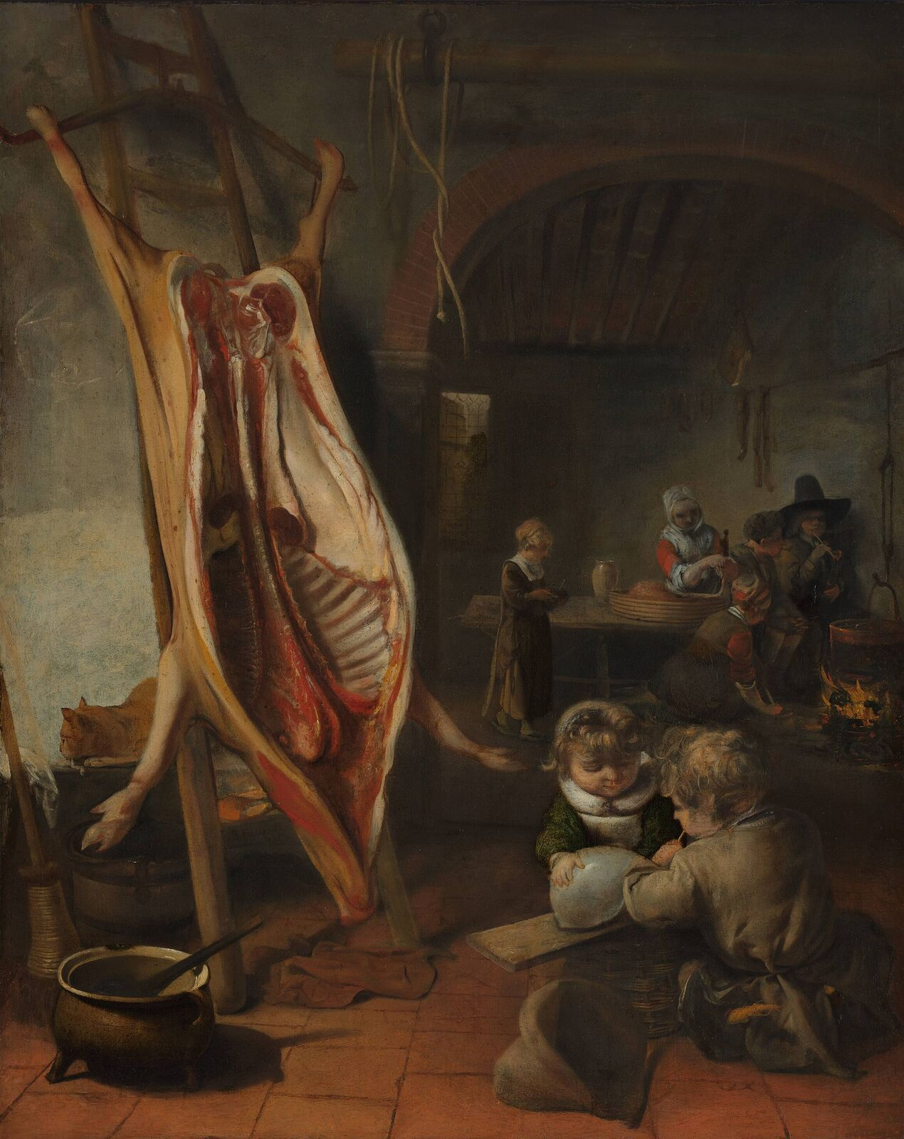 Barent Fabritius: The slaughtered swine