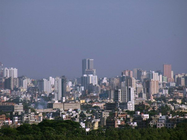 """Dhaka-skyline-aymash"" by Hafrul at ms.wikipedia. Licensed under CC BY-SA 3.0 via Wikimedia Commons."