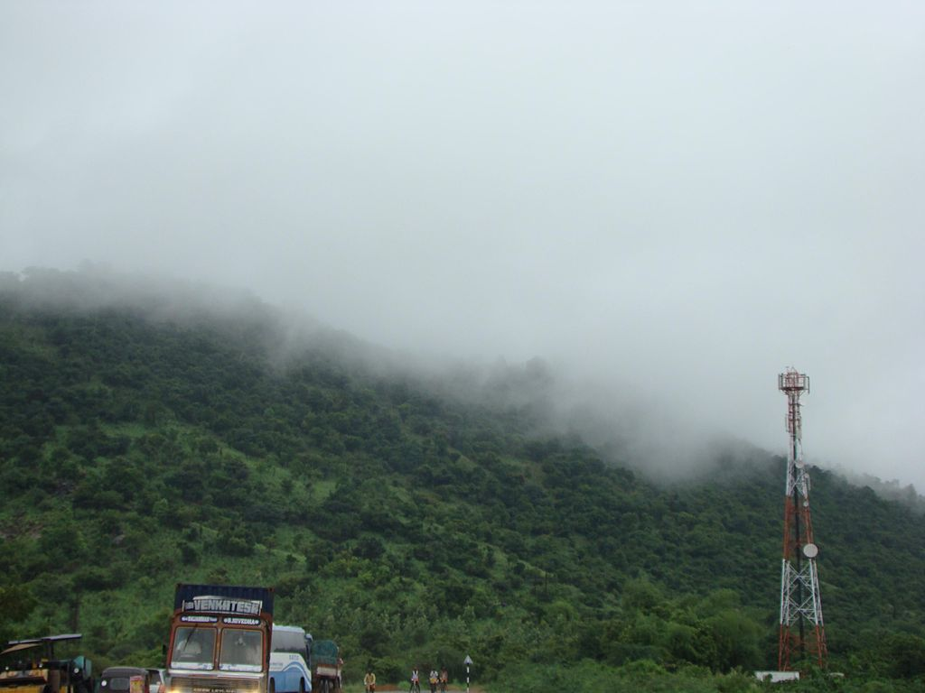 """""""Fog over mountain"""" by Brandvenkatr - shot while on way back from Tirupati. Licensed under CC BY-SA 3.0 via Wikipedia."""